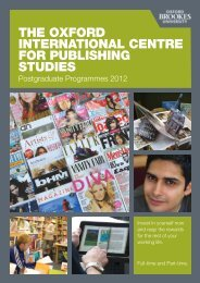 Master's in Publishing - Oxford International Centre for Publishing ...