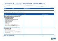Checkliste IST-Analyse bestehender Dokumentation