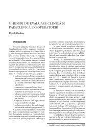 Ghiduri de evaluare clinica si paraclinica preoperatorie