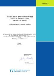 Initiatives on prevention of food waste in the retail and wholesale ...