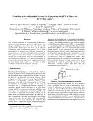 Modeling a Reconfigurable System for Computing the FFT in Place ...