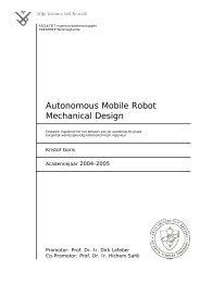 Autonomous Mobile Robot Mechanical Design - the Dept. of ...