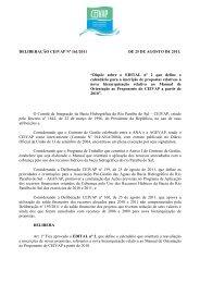 Deliberação CEIVAP 161 - 2011 Edital nº 2 - Manual de Orientação ...