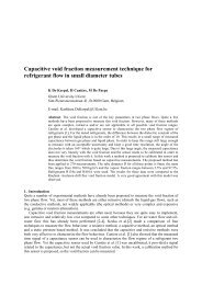 Capacitive void fraction measurement technique for refrigerant flow ...