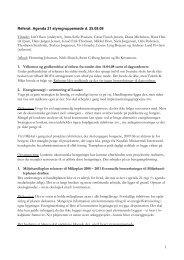 1 Referat: Agenda 21 styregruppemøde d. 25.08.08 Tilstede: Leif ...