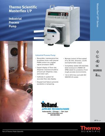 Thermo Scientific Masterflex I/P Industrial Process Pump