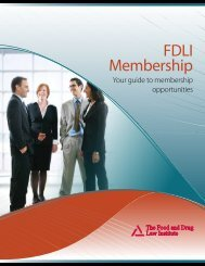 Membership Brochure - Food and Drug Law Institute