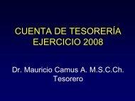 cuenta 2008 - Sociedad de Cirujanos de Chile