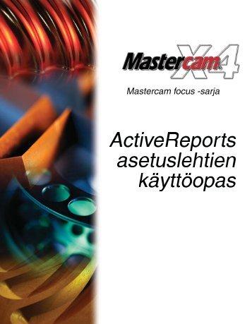 Tässä harjoituksessa opitaan - Mastercam.fi