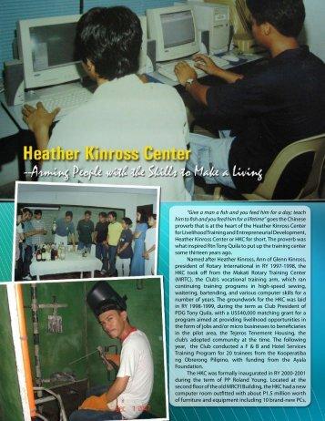 Heather Kinross Center - Rotary Club of Makati