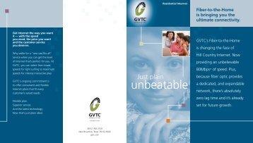 Residential Internet Brochure - Gvtc.com