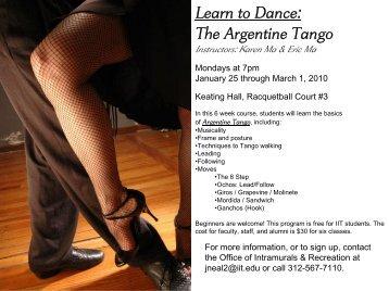 The Argentine Tango - Illinois Institute of Technology Athletics
