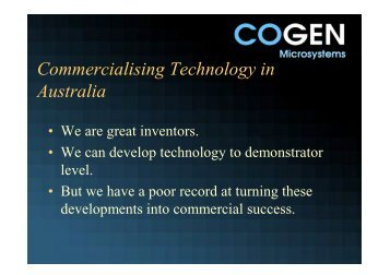 commercialisation - NCED