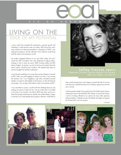 LIVING ON THE - Arbonne