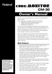 CM-30 Manual (PDF) - Roland