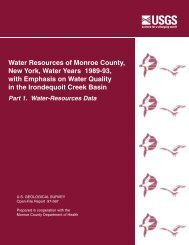 Water Resources of Monroe County, New York, Water Years 1989 ...