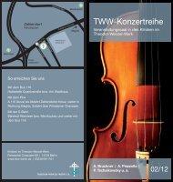 TWW-Konzertreihe - Theodor-Wenzel-Werk e.V.