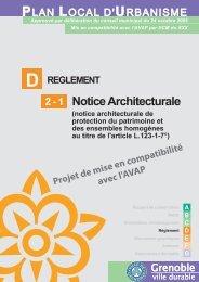 D2-1. Notice Architecturale - Grenoble