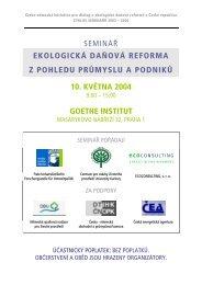 EDR a průmysl - Centrum pro otázky životního prostředí UK