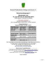 Hessisch-Waldeckischer Gebirgsverein Kassel e.V. ...