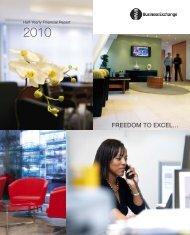 Interim Report - 6 months to 30 June 2010 - MWB Business Exchange