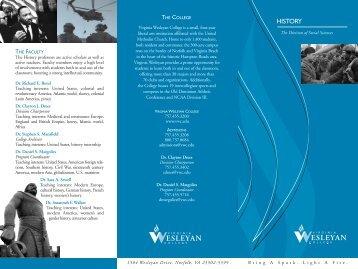 History brochure - Virginia Wesleyan College
