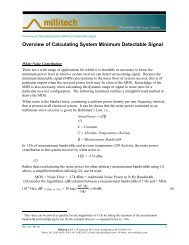 Overview of Calculating System Minimum Detectable Signal - Millitech