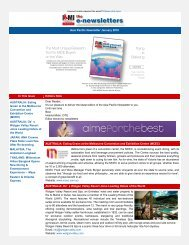I&MI Newsletter Asia-Pacific January 2010 Edition - micePLACES
