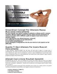 Straordinari Consigli Per Ottenere Massa Muscolare ... - Ultimate Italia