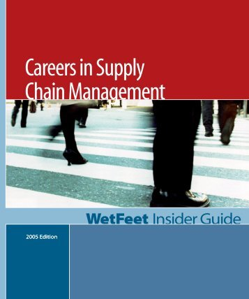 Careers In Supply Chain Management 2004 - Supply Chain Online
