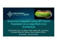Streamline Integration Using MPI-Hybrid - IDAV: Institute for Data ...