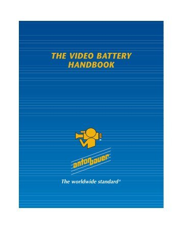 Video Battery Handbook - Anton/Bauer