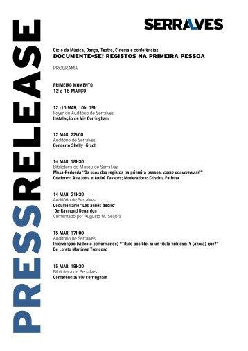 DOCUMENTE-SE! REGISTOS NA PRIMEIRA PESSOA