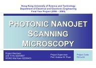 Photonic Nanojet scanning Microscopy - Department of Electronic ...