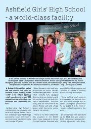 Ashfield Girls opening.indd - Belfast Education & Library Board