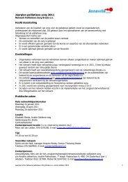 Jaarplan palliatieve zorg 2011 - Annevillegroep