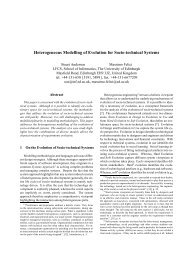 Heterogeneous Modelling of Evolution for Socio-technical Systems