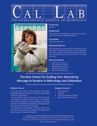 2013 MediaKit - Cal Lab Magazine