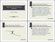 Subscript and Summation Notation Single Subscript ... - Statpower