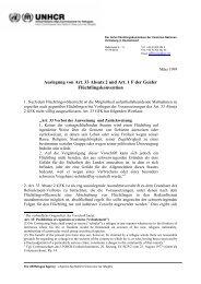 Auslegung von Art. 33 Absatz 2 und Art. 1 F GFK - UNHCR