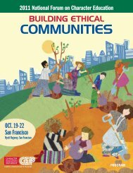 2011 Forum Program - Character Education Partnership
