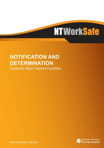 Notification and Determination - NT WorkSafe