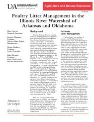 Poultry Litter Management in the Illinois River Watershed of ...