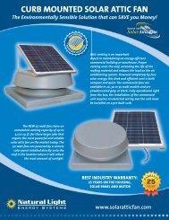 CURB MOUNTED SOLAR ATTIC FAN - Natural Light Solar Attic Fans