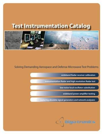 Test Instrumentation Short-form Catalog - Microwave Journal