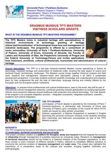 erasmus mundus tpti masters visitings scholars grants
