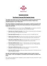 Executive Summary The Prince's Trust and TES Teachers' Survey