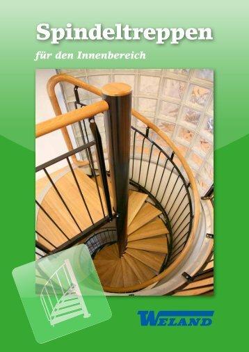 Spindeltreppen für den Innenbereich- Weland GmbH
