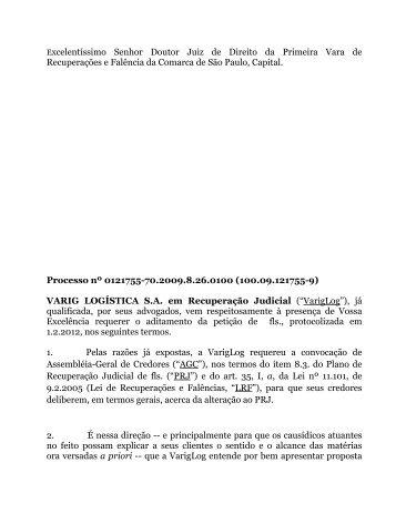 Plano de Recuperação 22.02.2012 - VarigLog