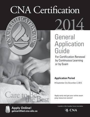General Application Guide for Certification Renewal - NurseONE